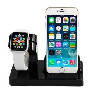 2 in 1 Apple Watch Standaard Iphone houder-003