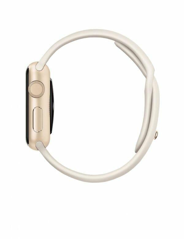 Apple watch bandjes - Apple watch rubberen sport bandje - antique white-002