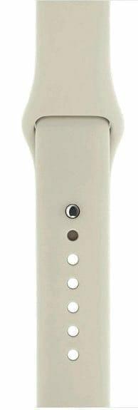 Apple watch bandjes - Apple watch rubberen sport bandje - antique white-006