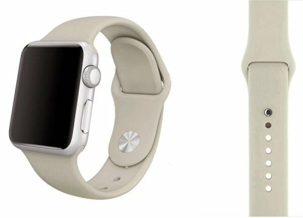Apple watch bandjes - Apple watch rubberen sport bandje - antique white