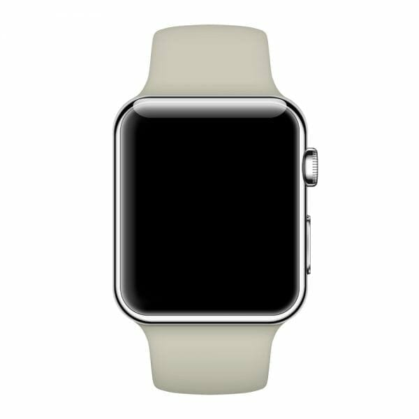 Apple watch bandjes - Apple watch rubberen sport bandje - antique white0002