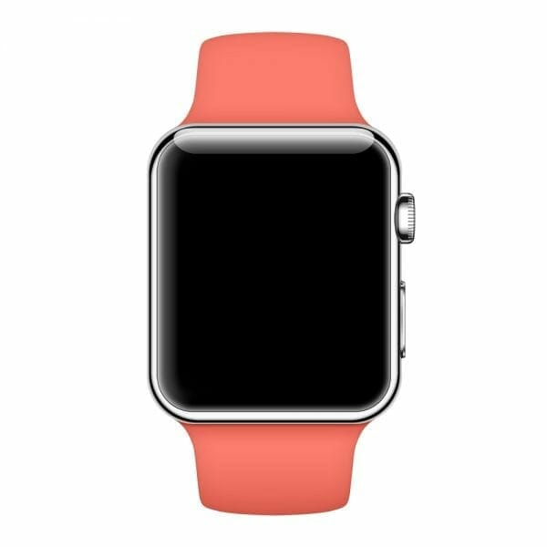 Apple watch bandjes - Apple watch rubberen sport bandje - apricot-004