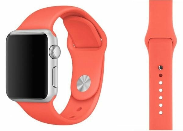 Apple watch bandjes - Apple watch rubberen sport bandje - apricot
