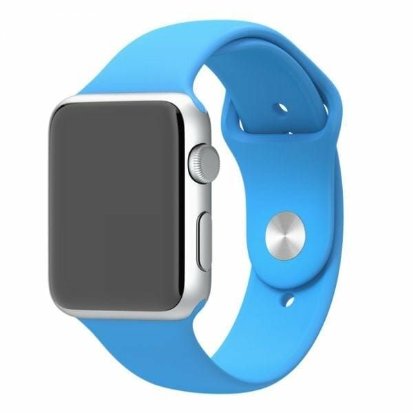 Apple watch bandjes - Apple watch rubberen sport bandje - blauw -001