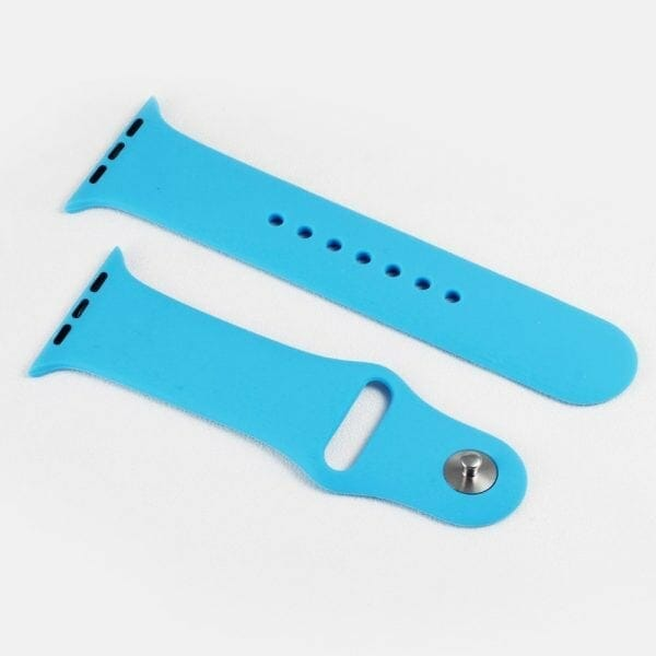 Apple watch bandjes - Apple watch rubberen sport bandje - blauw -004