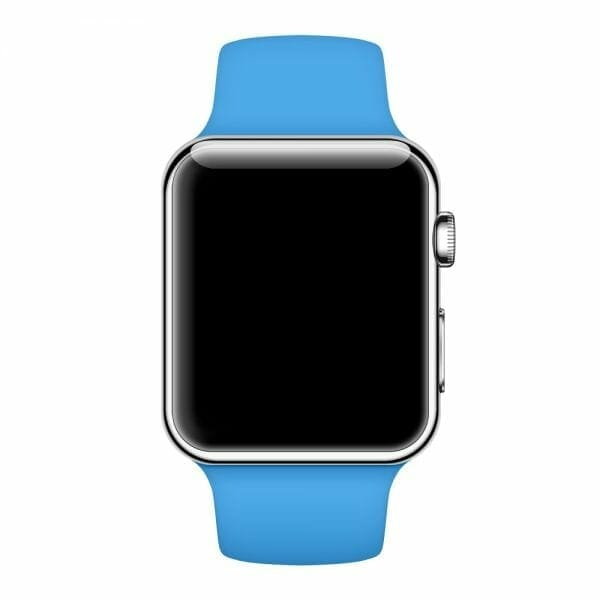 Apple watch bandjes - Apple watch rubberen sport bandje - blauw -008