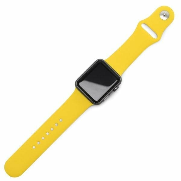 Apple watch bandjes - Apple watch rubberen sport bandje - geel-002