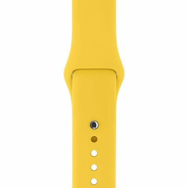 Apple watch bandjes - Apple watch rubberen sport bandje - geel-004