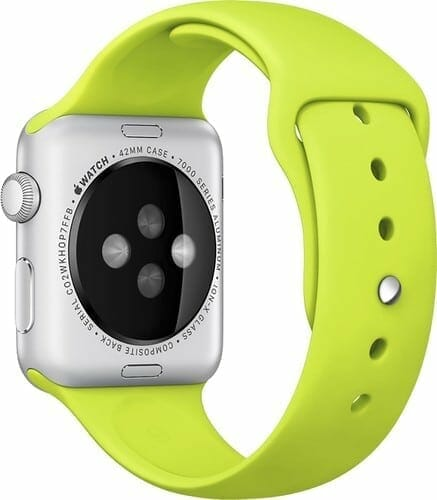 Apple watch bandjes - Apple watch rubberen sport bandje - groen 008