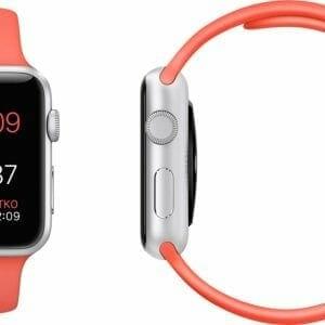 Rubberen sport bandje voor de Apple Hotpink