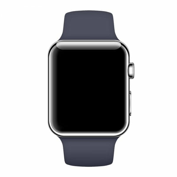 Apple watch bandjes - Apple watch rubberen sport bandje - midnight-blue-000