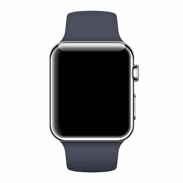Apple watch bandjes - Apple watch rubberen sport bandje - midnight-blue-000