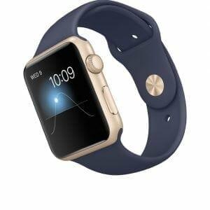 Apple watch bandjes - Apple watch rubberen sport bandje - midnight-blue-002