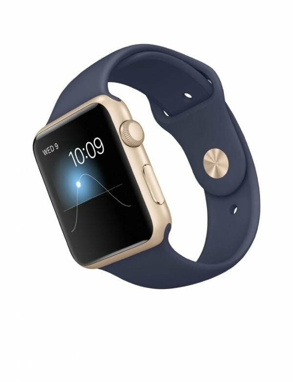 Apple watch bandjes - Apple watch rubberen sport bandje - midnight-blue-002