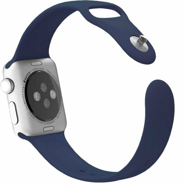 Apple watch bandjes - Apple watch rubberen sport bandje - midnight-blue-003