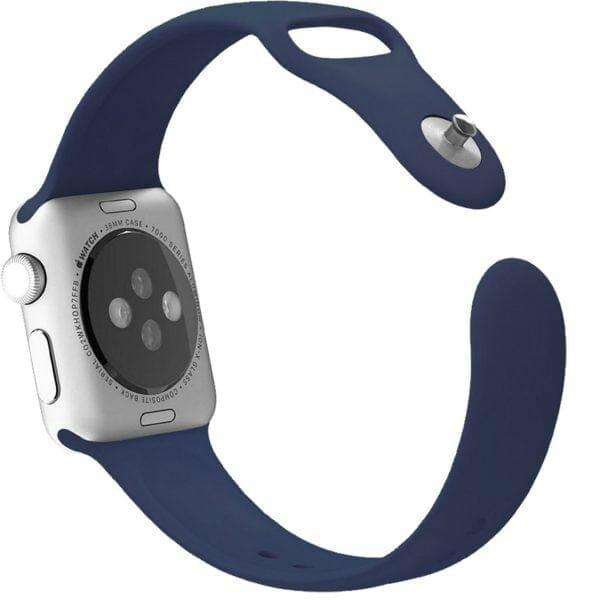 Apple watch bandjes - Apple watch rubberen sport bandje - midnight-blue-003