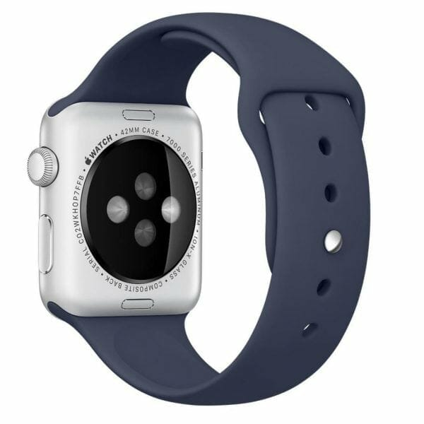 Apple watch bandjes - Apple watch rubberen sport bandje - midnight-blue-007