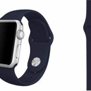 Apple watch bandjes - Apple watch rubberen sport bandje - midnight-blue