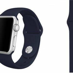 Apple watch bandjes - Apple watch rubberen sport bandje - midnight-blue