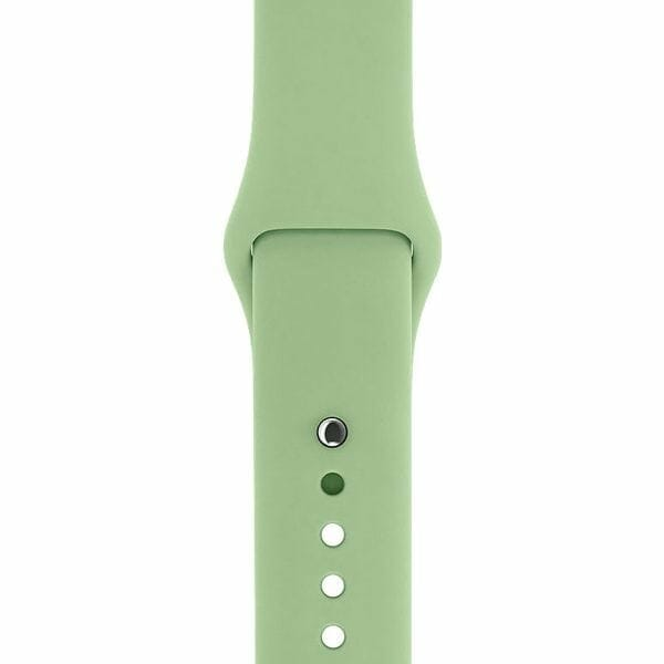 Apple watch bandjes - Apple watch rubberen sport bandje - mint-0