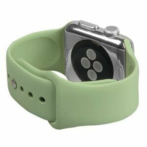 Apple watch bandjes - Apple watch rubberen sport bandje - mint-004