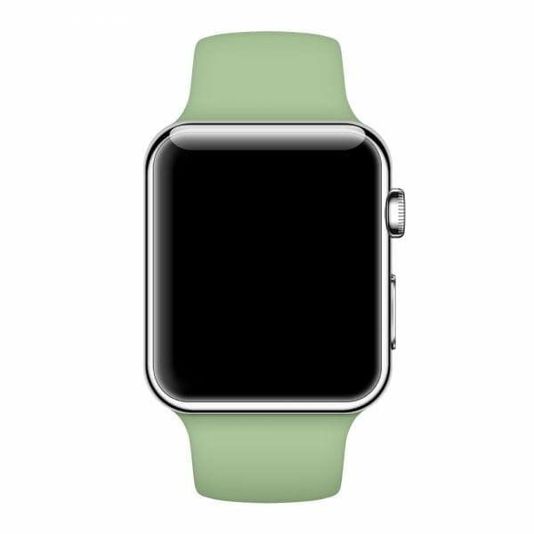 Apple watch bandjes - Apple watch rubberen sport bandje - mint-006