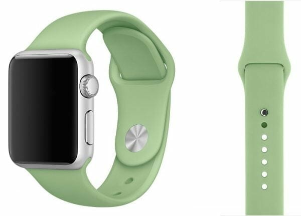 Apple watch bandjes - Apple watch rubberen sport bandje - mint