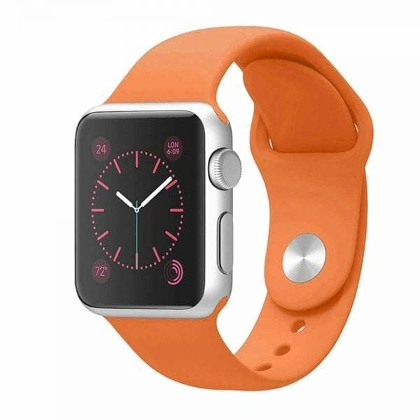 Apple watch bandjes - Apple watch rubberen sport bandje - orange-002