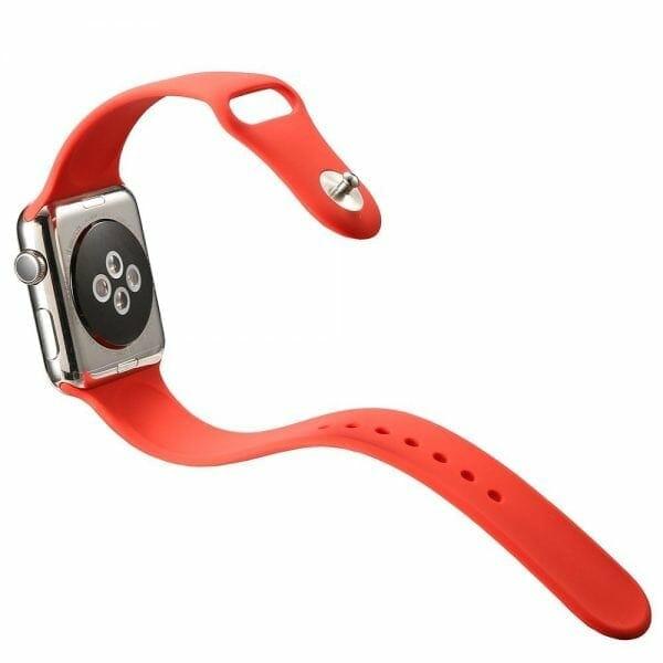 Rubberen sport bandje voor de Apple Watch Rood