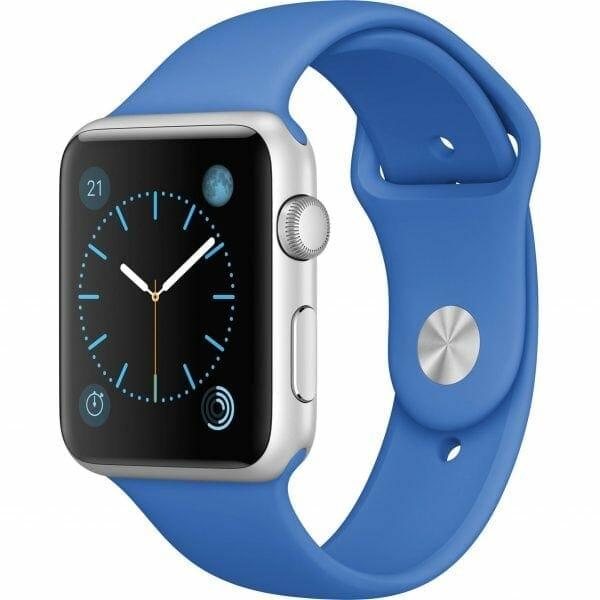 Apple watch bandjes - Apple watch rubberen sport bandje - royal blue-001