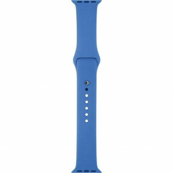 Apple watch bandjes - Apple watch rubberen sport bandje - royal blue-002