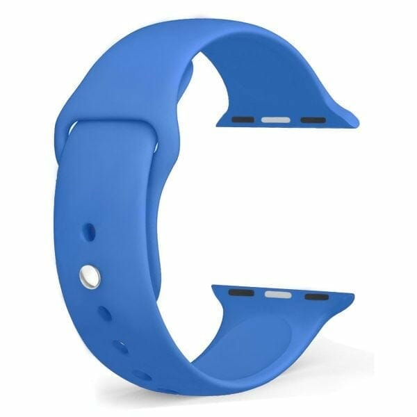 Apple watch bandjes - Apple watch rubberen sport bandje - royal blue-005