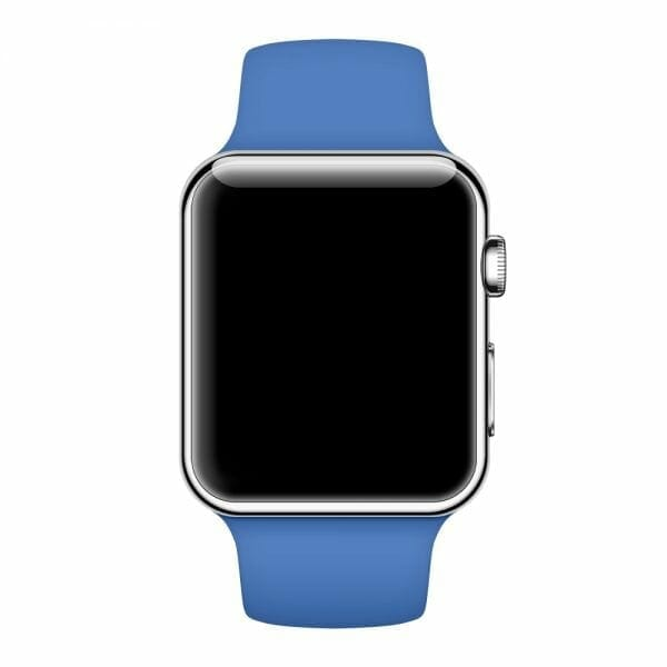 Apple watch bandjes - Apple watch rubberen sport bandje - royal blue-006