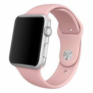 Apple watch bandjes - Apple watch rubberen sport bandje - roze-004