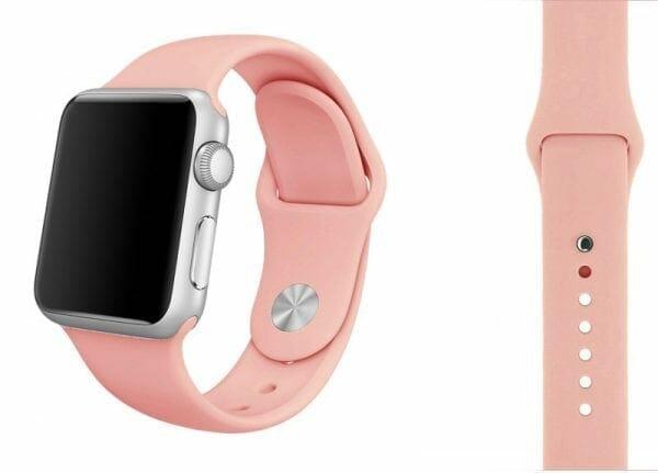 Apple watch bandjes - Apple watch rubberen sport bandje - roze