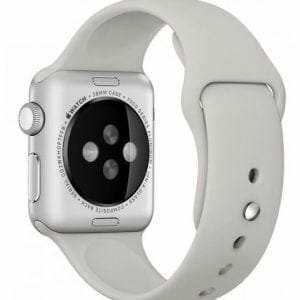 Apple watch bandjes - Apple watch rubberen sport bandje - stone-010