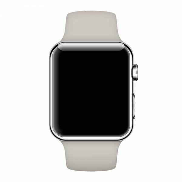 Apple watch bandjes - Apple watch rubberen sport bandje - stone-012