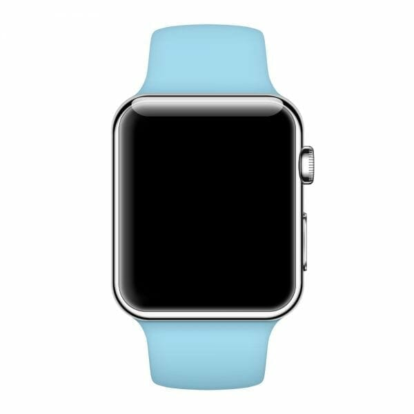 Apple watch bandjes - Apple watch rubberen sport bandje - turquoise-013