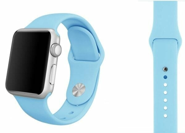 Apple watch bandjes - Apple watch rubberen sport bandje - turquoise