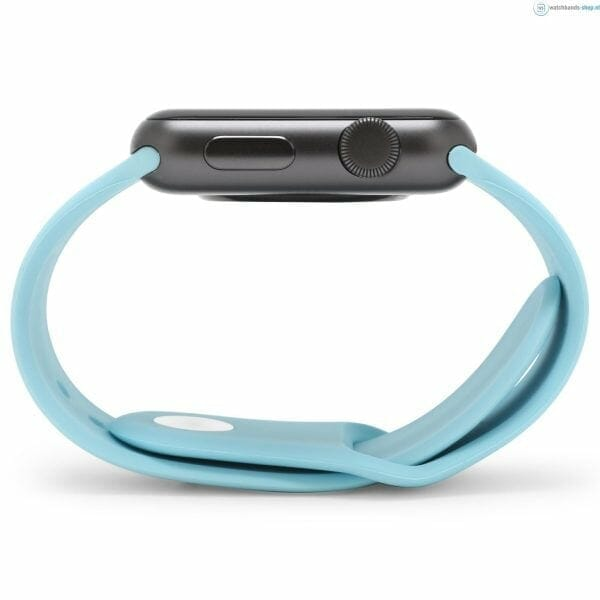 Apple watch bandjes - Apple watch rubberen sport bandje - turquoise.-013jpg