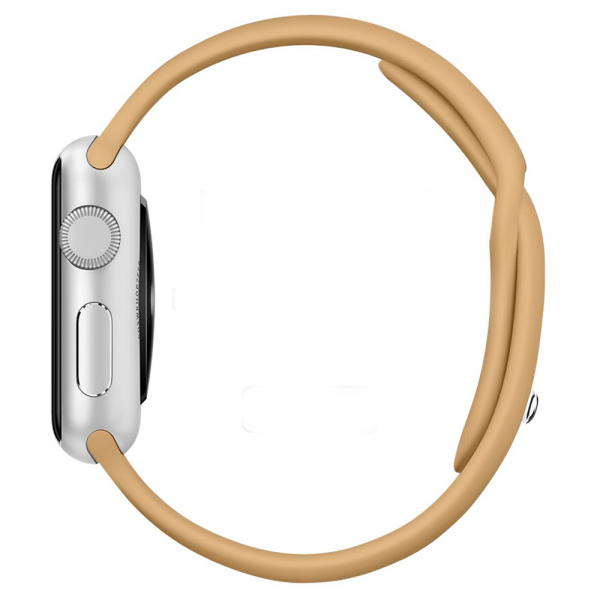 Apple watch bandjes - Apple watch rubberen sport bandje - walnut-002
