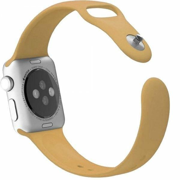 Apple watch bandjes - Apple watch rubberen sport bandje - walnut-003