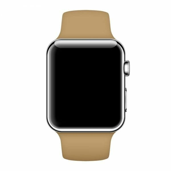 Apple watch bandjes - Apple watch rubberen sport bandje - walnut-004