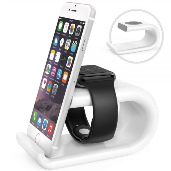 Apple watch stand Iphone houder - wit-003