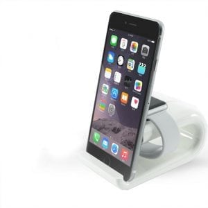Apple watch stand Iphone houder - wit-005