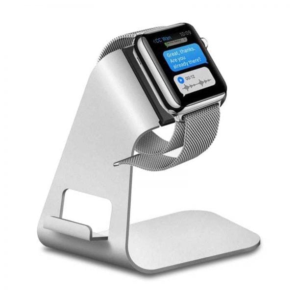 Apple watch stand hoog - Zilver-001