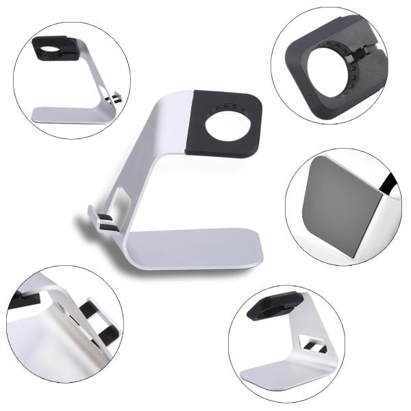 Apple watch stand hoog - Zilver-003