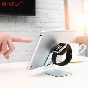 Apple watch stand hoog - Zilver-006