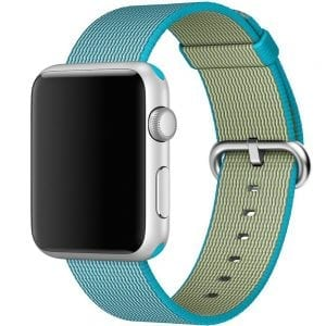 Nylon bandje voor de Apple Watch 38mm Scuba Blue-007