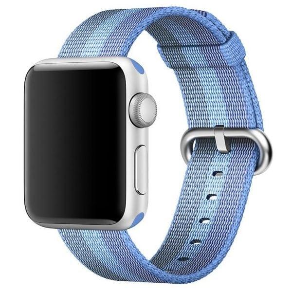 Nylon bandje voor de Apple Watch 38mm Tahoe Blue-005